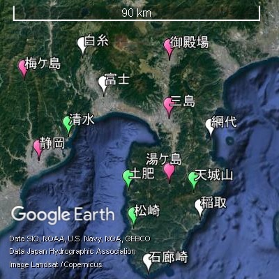 静岡東部の降水量