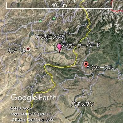 アフガン・パキスタン国境付近