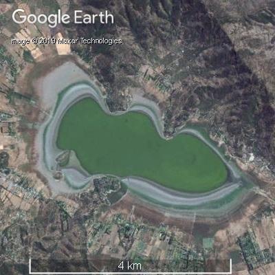 2016年2月のアクレオ湖