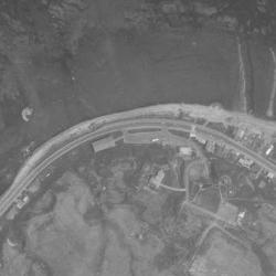 埋め立て前の宗谷岬