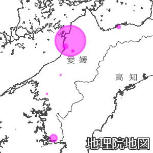 愛媛県の新型コロナ感染MAP