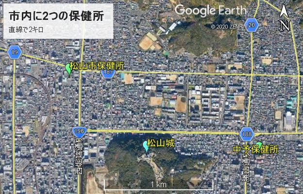 松山市保健所と中予保健所