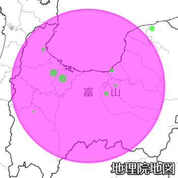 富山県の新型コロナ感染マップ