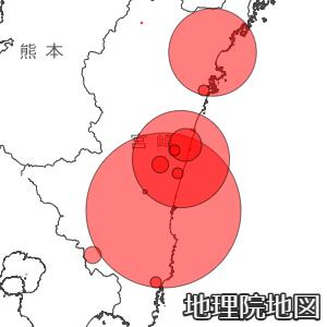 宮崎県の新型コロナ感染マップ
