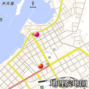 根室観象台と弁天島