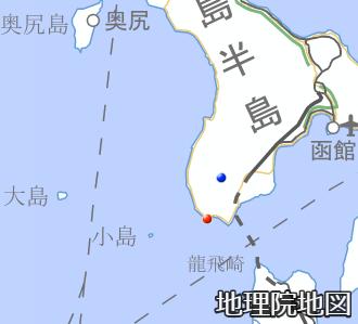 渡島大島と渡島小島