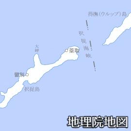 択捉島の蘂取村