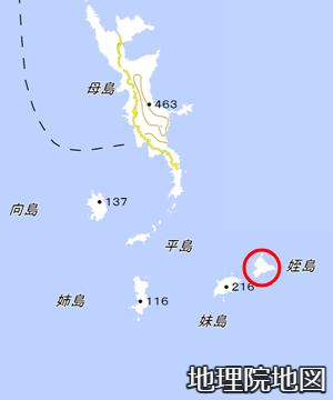 母島列島の姪島