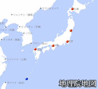 管区気象台と沖縄気象台