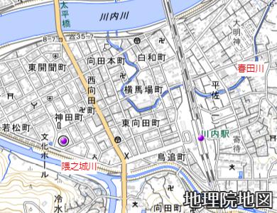 川内駅付近