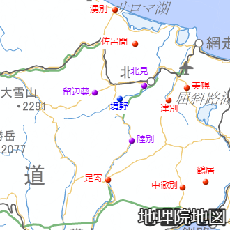 道東内陸部