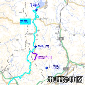 雨竜川と幌加内川