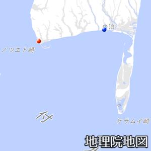 国後島南端部