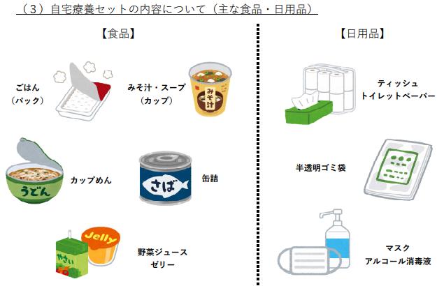 北海道の自宅療養セット