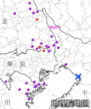 震度5以上の観測地点